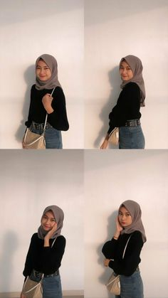 Casual Hijab Outfit, Ootd Hijab, Casual Outfits, Hijab Fashion, Fashion Outfits, Womens Fashion, Girl Photography Poses, Girls, Model