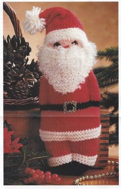 8e8bfc13769 Vintage Knit Santa Claus Pal Toy Doll christmas decor instant download  knitting pattern