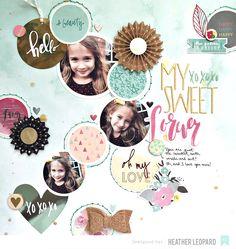 Sweet Layout by Heather Leopard - Scrapbook.com