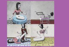 painting  special issue el patio de la luna by Miguel Morales Ruiz