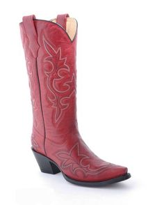 Women's Desert Red Goat Leather Boot - R1952