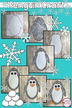 ideas for grade art projects winter bulletin boards 2nd Grade Crafts, 5th Grade Art, Creative Activities For Kids, Art Activities, Winter Activities, Family Art Projects, Lotus Flower Art, Penguin Craft, Footprint Art
