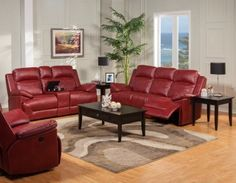 From a small and cozy to big and sprawling theres reclining furniture to fit everyone and into every space in your home New Classic CORTEZ Living Room Set red