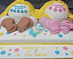 5 baby showers in one - Cake by Willene Clair Venter