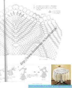 Page 6 of 6 Beautiful Tablecloth Crochet Bedspread, Crochet Tablecloth, Crochet Doilies, Crochet Diagram, Filet Crochet, Mantel Redondo A Crochet, Pineapple Crochet, Table Covers, Do It Yourself