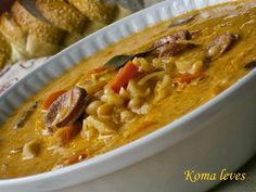 Veggie Soup, Hungarian Recipes, Tofu, Thai Red Curry, Macaroni And Cheese, Food And Drink, Veggies, Baking, Ethnic Recipes
