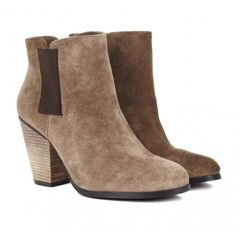 Love the texture of these suede ankle boots