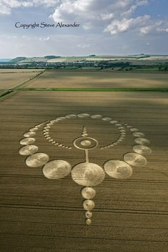 Latest Crop Circle Images 2012 - Photography by Steve Alexander (my fav photographer of this phenomenon) Circle Geometry, Circle Art, Circle Design, Sacred Geometry, Aliens And Ufos, Ancient Aliens, Ancient History, European History, American History