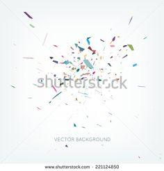 Vector abstract burst background - stock vector