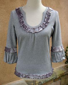 Women's Small Upcycled Bolero Sweater  by EchoClothingCompany