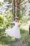 Classic Dress, Short sleeves, White Magnolia
