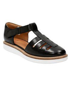 Look what I found on #zulily! Black Glick Delta Leather Sandal #zulilyfinds