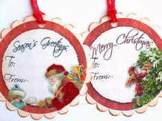 Holiday Gift Tag Christmas Yuletide Season Merry by wildabouttags, $4.50