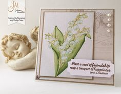 Inspired by Stamping, Joanna Munster, Lily Of The Valley stamp set, floral card, thinking of you card