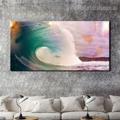 This splashing sea wave modern painting print will add more charm to your large living room interiors.  #interiordecor #artgoals #digitalpainting #stretchedart Canvas Pictures, Pictures To Paint, Painting Prints, Wall Art Prints, Online Art Store, Landscape Walls, Sea Waves, Stretched Canvas Prints, Wall Art Decor