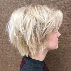 60 Short Shag Hairstyles That You Simply Can't Miss Wispy Layered Platinum Blonde Bob 60 Short Shag Hairstyles That You Simply Can't Miss Wispy Layered Platinum Blonde Bob Short Shag Hairstyles, Shaggy Haircuts, Blonde Bob Hairstyles, Modern Haircuts, Wedding Hairstyles, 1940s Hairstyles, Formal Hairstyles, Wedding Updo, Short Blonde Haircuts