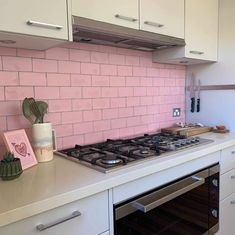 """TileCloud on Instagram: """"Check out this Queens birthday long weekend DIY splashback. Swipe to see the before. Who else is thinking of doing a pink splashback?…"""""""
