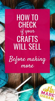 How to Check if your Craft will Sell