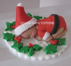 Santa Claus Baby Cake Topper