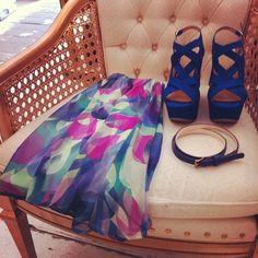pretty dress, killer shoes, lovely belt♥