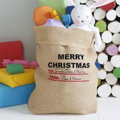 "Personalisierter Weihnachtssack ""Merry Christmas"""