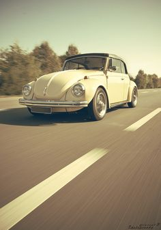 vw convertible beetle cream
