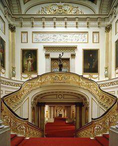 Grand Staircase, Buckingham Palace, London, England