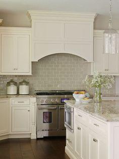 Grey Kitchen Backsplash, Transitional, kitchen, Bria Hammel Interiors