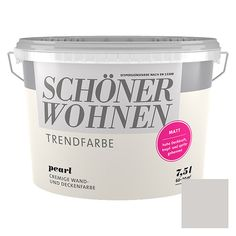 Schoner Wohnen Farbe Wand Und Deckenfarbe Trendfarbe Pearl Seidenglanzend 25 L In 2020 Schoner Wohnen Wandfarbe Schoner Wohnen Trendfarbe Schoner Wohnen Farbe