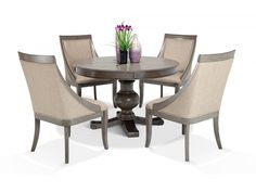 Gatsby Round 5 Piece Dining Set With Swoop Chairs | Dining Room Sets | Dining Room | Bob's Discount Furniture