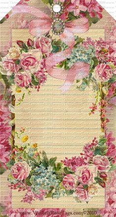 Victoria's Vintage Rose Bouquets Series Set 10 Journal Tags