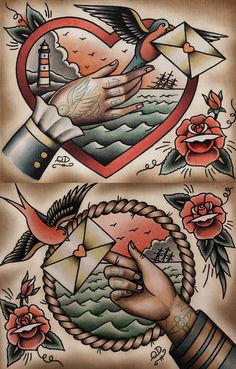 Old School Tattoo Flash Style | KYSA #ink #design #tattoo