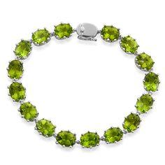Liquidation Channel | Hebei Peridot Bracelet in Sterling Silver (Nickel Free)