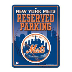 Rico Metal Parking Sign - MLB New York Mets