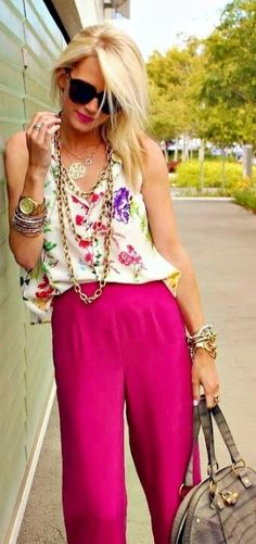 Lovely mix of bold colors & soft fabrics