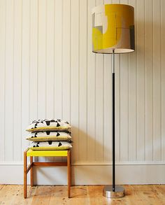 Domino cushions,and Arch drum shade both by Maxine Sutton.