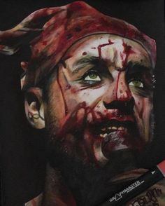 gbart @graffiticantbestopped sent us this realistic artwork of Till Lindemann of #rammsteinofficial Great work
