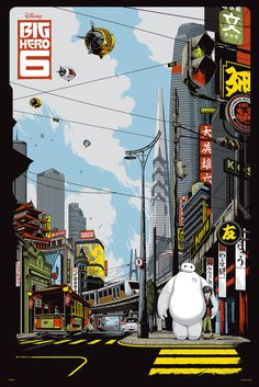 Satisfy Your Inner Child <em>and</em> Adult With Gorgeous Disney Posters for Grown-Ups | <em>Big Hero 6</em> | Credit: Ken Taylor | From Wired.com