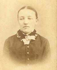 Mary while attending college for the blind in Iowa, early 1880's