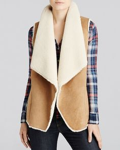 Velvet by Graham & Spencer Faux Sherpa Vest