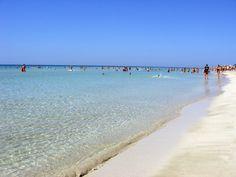 Pescoluse beach, Lecce, Italy