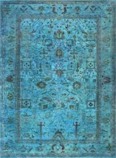 An Over Dyed Rug