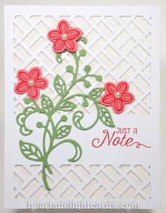 Heart's Delight Cards: Paper Pumpkin Flash!!! - May 2016 Paper Pumpkin (Many Manly Occasions) - Flourish Thinlits - May Flower Thinlits