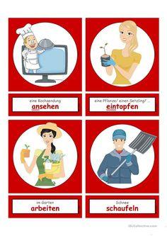 Handout, German Language Learning, Learn German, Cards, German Language, Irregular Verbs, Housekeeping, Grammar, Maps