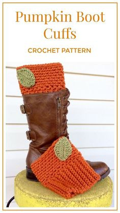 Items similar to Crochet Pumpkin Boot Cuffs, Warm Orange Boot Cuffs, Crochet Boot Cuffs for Women or Teens, Boot Toppers for Fall or Winter on Etsy Black Crochet Dress, Crochet Boots, Knit Crochet, Crochet Dresses, Irish Crochet, Crochet Carpet, Crochet Afghans, Crochet Baby, Crochet Patterns For Beginners