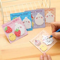 1Pcs New Cute Molang Rabbit N Times Self-Adhesive Memo Pad Sticky Notes Post It Bookmark School Office Supply H1616