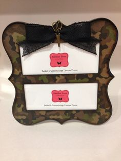 double barber cosmetology license frame camo print with bow and gold scissors fits 2 8 12 x 3 58 business certificat