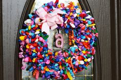 Cute Balloon Birthday Wreath