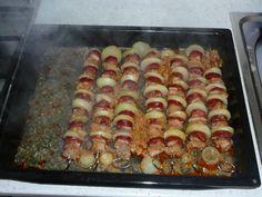 Ražniči - tak ako chutí u nás (fotorecept) - recept Ratatouille, Tacos, Vegetables, Ethnic Recipes, Food, Essen, Vegetable Recipes, Meals, Yemek