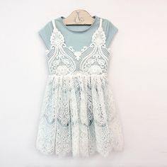 Jade Lace Dress - White